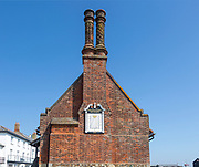 Historic Moot Hall building town guildhall,  Aldeburgh, Suffolk, England, UK 16th century Tudor architecture