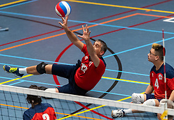 20-04-2019 NED: Dirk Kuyt Foundation Cup, Veenendaal<br /> National Cup sitting volleyball in Veenendaal / ZVH, Robert Jelle Breunesse #12