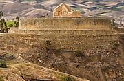 Ingapirca Ruins & Cañari Indian (Isidora Yupa)<br /> Most important Inca Ruins in Ecuador<br /> Cañar<br /> Southern Andes. ECUADOR.  South America