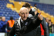 Ian Holloway gives a thumbs up to the supporters after his side win 1 - 0 during the EFL Sky Bet League 2 match between Mansfield Town and Grimsby Town FC at the One Call Stadium, Mansfield, England on 4 January 2020.