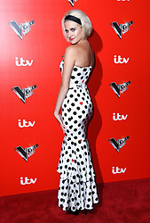 Pixie Lott attending a photocall to launch The Voice Kids, at Madame Tussauds in London. Photo credit should read: Doug Peters/EMPICS