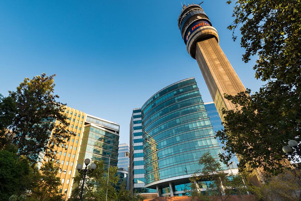 Santiago de Chile, Region Metropolitana, Chile, South America -  Modern office buildings at downtown Santiago de Chile.