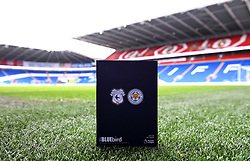 A matchday programme ahead of the Premier League match at the Cardiff City Stadium, Cardiff.