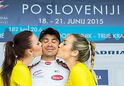 PAVLIC Marko (Slovenia) of Radenska Ljubljana, best in U23 classification during flower ceremony after the Stage 2 of 22nd Tour of Slovenia 2015 from Skofja Loka to Kocevje (183 km) cycling race  on June 19, 2015 in Slovenia. Photo by Vid Ponikvar / Sportida