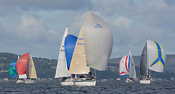 Largs Regatta Festival 2018<br /> <br /> Day 1 - Class 3 downwind with GBR50030C, More Misjif<br /> <br /> Images: Marc Turner