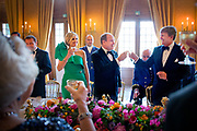 Aankomst van de koninklijke gasten op Paleis Het Loo voor het Diner.<br /> <br /> Arrival of the royal guests at Het Loo Palace for Dinner.<br /> <br /> Op de foto / On the photo: <br />  King Willem-Alexander, Queen Maxima, Princess Beatrix of The Netherlands and Prince Albert of Monaco attend the official diner at Palace het Loo