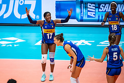 19-10-2018 JPN: Semi Final World Championship Volleyball Women day 18, Yokohama<br /> China - Italy / Miryam Fatime Sylla #17 of Italy