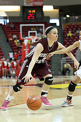03 March 2013:  Hannah Wilkerson during an NCAA Missouri Valley Conference (MVC) women's basketball game between the Missouri State Bears and the Illinois Sate Redbirds at Redbird Arena in Normal IL