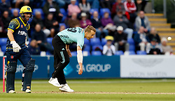 Surrey's Tom Curran in action today <br /> <br /> Photographer Simon King/Replay Images<br /> <br /> Vitality Blast T20 - Round 14 - Glamorgan v Surrey - Friday 17th August 2018 - Sophia Gardens - Cardiff<br /> <br /> World Copyright © Replay Images . All rights reserved. info@replayimages.co.uk - http://replayimages.co.uk