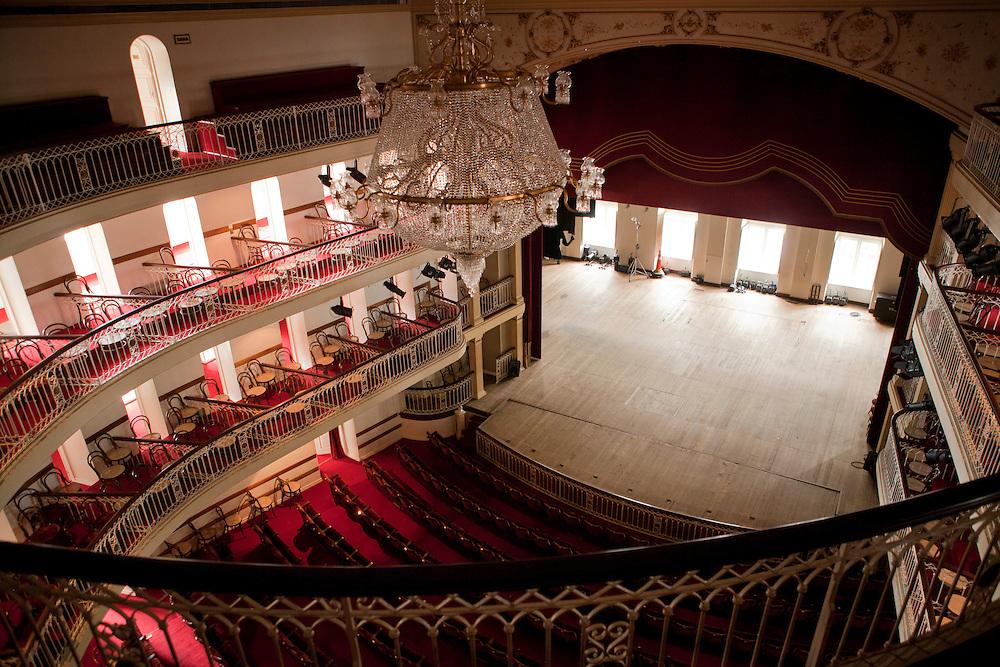 Porto Alegre_RS, Brasil...Theatro Sao Pedro. Na foto sala de espetaculos...Sao Pedro theater. In the photo spectacles room...Foto: LUIZ FELIPE FERNANDES / NITRO