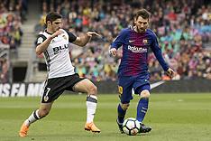Barcelona v Valencia 14 Apr 2018