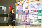 March 16, 2020, London, England, United Kingdom: Customers are seen shopping for items meanwhile groceries, meat, as well as hygienic shelves, go empty very fast at most supermarkets in London, Monday, March 16, 2020. For most people, the new coronavirus causes only mild or moderate symptoms, such as fever and cough. For some, especially older adults and people with existing health problems, it can cause more severe illness, including pneumonia. (Credit Image: © Vedat Xhymshiti/ZUMA Wire)