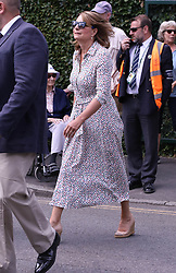 Rory Mallory and fiance Erica Stoll, Richard E Grant, Mr and Mrs Middleton, Sir Cliff Richard arrive at the Wimbledon Tennis Championships <br /><br />11 July 2018.<br /><br />Please byline: Vantagenews.com