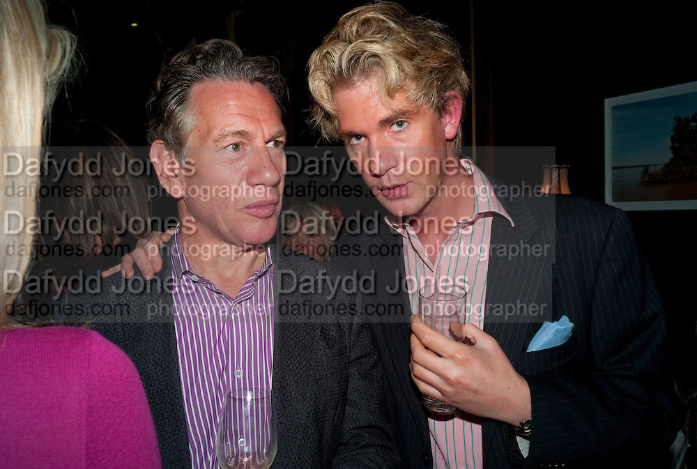MICHAEL PORTILLO; BEN DUNCAN, Party to celebrate the composer Michael Nyman's exhibition and the Russian Anglo Arts festival (Anglomockba). Sketch. London. 27 April 2009