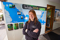 Annabel Lawrence at the Lochaline Dive Centre. Lochaline Retained Fire Crew jobs feature.