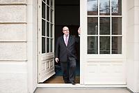 11 APR 2019, BERLIN/GERMANY:<br /> Peter Altmaier, CDU, Bundesminister fuer Wirtschaft und Energie, an der Tuer zum Balkon seine Bueros, Bundesministerium fuer Wirtschaft und Energie<br /> IMAGE: 20190411-01-029<br /> KEYWORDS: Büro