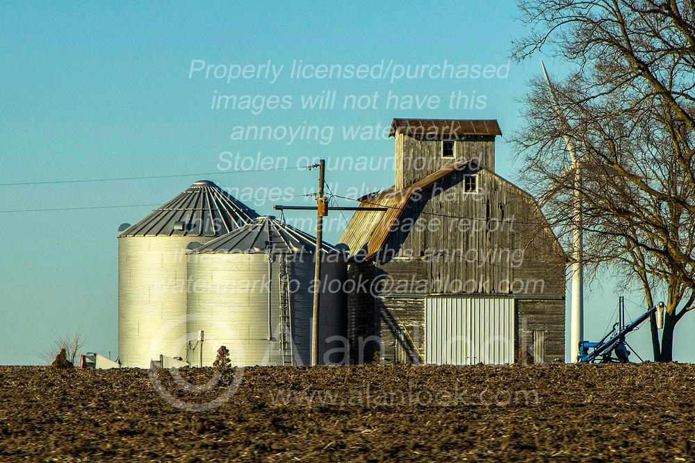 Old corncrib with barn stall on side