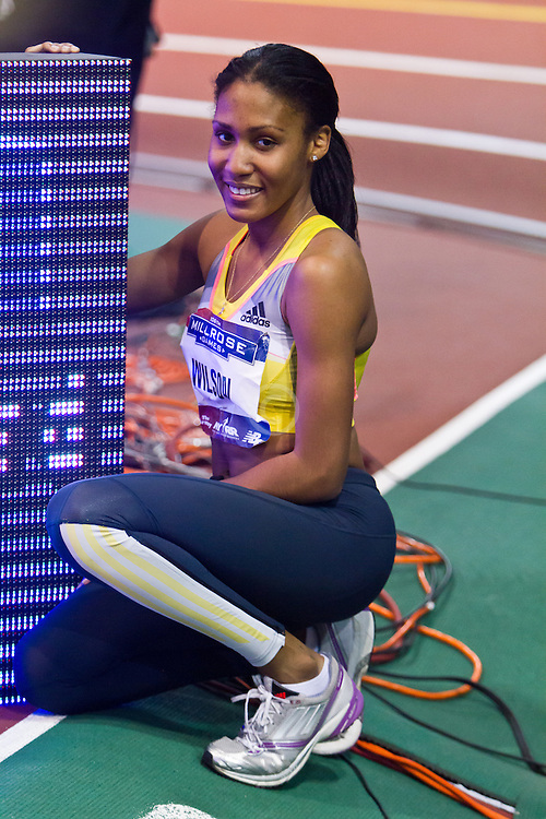 Millrose Games indoor track and field: womens 600 meters, Ajee' WIlson, sets World Junior Record