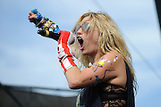 Kesha performing at The Bamboozle in East Rutherford, New Jersey on May 2, 2010.