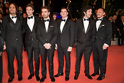 David Robert Mithcell, Topher Grace, Chris Bender and Lucy Kitada, Jake Weiner attending the premiere of the film Under The Silver Lake during the 71st Cannes Film Festival in Cannes, France on May 15, 2018. Photo by Julien Zannoni/APS-Medias/ABACAPRESS.COM