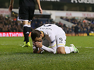 Tottenham's Roberto Soldado looks on dejected<br /> <br /> Europa League Group C- Tottenham vs Partizan Belgrade - White Hart Lane - England - 27th November 2014 - Picture David Klein/Sportimage