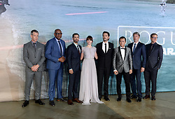 (left to right) Ben Mendelsohn, Forest Whitaker, Riz Ahmed, Felicity Jones, Diego Luna, Donnie Yen, Mads Mikkelsen and Alan Tudyk attending the Rogue One: A Star Wars Story Premiere, at the Tate Modern, London. Picture Credit Should Read: Doug Peters/EMPICS Entertainment