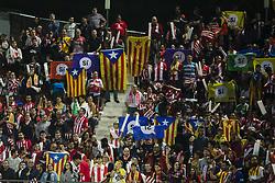 September 23, 2017 - Girona, Catalonia, Spain - Independence symbols and flags in pro 1 of October referendum during the La Liga match between Girona FC v FC Barcelona  at Montilivi Stadium on September 23, 2017 in Girona, Spain. (Credit Image: © Xavier Bonilla/NurPhoto via ZUMA Press)