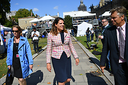 © Licensed to London News Pictures. 04/09/2019. London, UK.  Caroline Nokes MP on College Green, Westminster. Nokes is one of 21 Conservative MPs to defy the whip and rebel against the government by backing a motion which paves the way for legislation to delay Brexit until January 2020 unless Parliament has agreed a new withdrawal agreement by 19 October, or agrees to a no-deal exit. Photo credit: Guilhem Baker/LNP