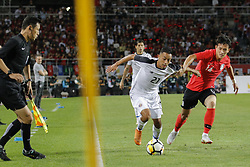 September 7, 2018 - Goyang, Gyeonggi, South Korea - September 7, 2018-Goyang, South Korea-Hong Chul of South Korea and Jimmy Marin of Costa Rica action on the field during an Football A Match South Korea vs Costa Rica at Goyang Sports Complex in South Korea. Match Won South KOrea, Score by 2-0. (Credit Image: © Ryu Seung-Il/ZUMA Wire)