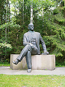 A statue of Vladimir Lenin stands in Grutas Park, near Alytus, Lithuania