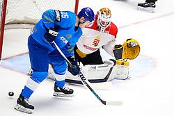 Dustin Boyd of Kazakhstan vs Bence Balizs of Hungary during ice hockey match between Kazakhstan and Hungary at IIHF World Championship DIV. I Group A Kazakhstan 2019, on May 5, 2019 in Barys Arena, Nur-Sultan, Kazakhstan. Photo by Matic Klansek Velej / Sportida