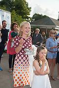 MARIELLA FROSTRUP,  CHARLES FINCH'S CHUCS SWIMATHON 2013, SERPENTINE, Hyde Park, London. 4 July 2013.