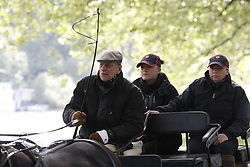 © Licensed to London News Pictures. 10/05/2017. Windsor, UK. Prince Philip, The Duke of Edinburgh,  attends the Royal Windsor Show. The five day equestrian event takes place in the grounds of Windsor Castle. Photo credit: Peter Macdiarmid/LNP