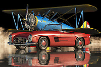 """The Mercedes 300 SL Roadster from the sixties is one of the most beautiful and unique cars ever made by the manufacturer. It is considered as a collector's item due to its rarity and because it has a long production run. You should know that the first production of this car took place in 1963 and it had sixty-three thousand two hundred and eleven thousand total units made. These cars were used in the film """"Monaco"""", and other movies."""