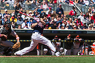 Justin Morneau #33 of the Minnesota Twins bats against the Baltimore Orioles on May 12, 2013 at Target Field in Minneapolis, Minnesota.  The Orioles defeated the Twins 6 to 0.  Photo: Ben Krause
