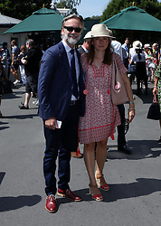 Chef, Marcus Wareing and his wife Jane on day two of the Wimbledon Championships at the All England Lawn Tennis and Croquet Club, Wimbledon.