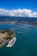 Missouri and Arizona memorials, Pearl Harbor, Oahu, Hawaii