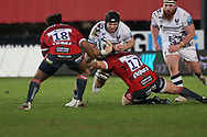 Bristol Bears Ed Holmes during the Gallagher Premiership Rugby match between Gloucester Rugby and Bristol Rugby at the Kingsholm Stadium, Gloucester, United Kingdom on 12 February 2021.