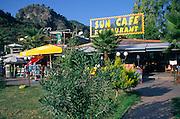 Tourist resort buildings, Olu Deniz, Fethiye, Turkey