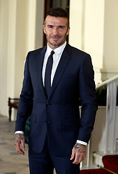 David Beckham arriving for the reception for the Queen's Young Leaders for 2018 at Buckingham Palace, London.