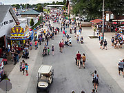 14 AUGUST 2019 - DES MOINES, IOWA: An entrance to the Iowa State Fair. The Iowa State Fair is one of the largest state fairs in the U.S. More than one million people usually visit the fair during its ten day run. The 2019 fair run from August 8 to 18.                PHOTO BY JACK KURTZ