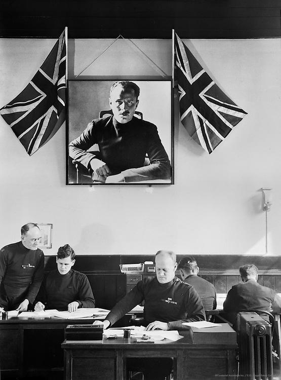 Deskwork at British Union of Fascists, London, c.1933