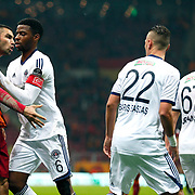 Galatasaray's Burak Yilmaz (L) during their Turkish Super League soccer match Galatasaray between Kasimpasaspor at the TT Arena at Seyrantepe in Istanbul Turkey on Friday, 31 October 2014. Photo by Kurtulus YILMAZ/TURKPIX