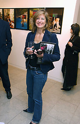 Photographer ALISON JACKSON at an exhibition of photographs entitled 'Protect The Human' by photographers Jake Gavin and Sean Gleason commissioned by Amnesty Internationlal and held at The Hospital, 24 Endell Street, London WC2 on 31st May 2006.<br />