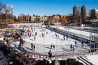 US, New York City, Central Park. Lasker Rink is located in the northern part of Central Park.