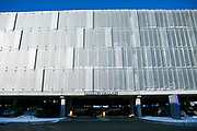 Perforated metal sheets created by Accurate Perforating are seen on Exact Sciences buildings in Madison, Wisconsin on February 10, 2020.<br /> <br /> Beth Skogen Photography<br /> www.bethskogen.com