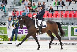 Chelsea Higgins, (AUS), Holstein Park Comedian - Individual Test Grade III Para Dressage - Alltech FEI World Equestrian Games™ 2014 - Normandy, France.<br /> © Hippo Foto Team - Jon Stroud <br /> 25/06/14