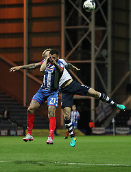 Craig Davies of Wigan Athletic (L) and Tom Clarke of Preston North End in action - Mandatory by-line: Jack Phillips/JMP - 23/09/2016 - FOOTBALL - Deepdale - Preston, England - Preston North End v Wigan Athletic -  EFL Sky Bet Championship