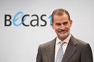 King Felipe VI of Spain attends 'La Caixa' Scholarship awards 2018 at Caixa Forum on May 28, 2019 in Madrid, Spain