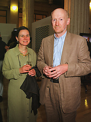 MR & MRS BILL WOODROW he is the sculptor at an exhibition in London on 15th June 1999.MTJ 94